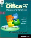 Microsoft Office 97 Developer's Handbook, Solomon, Christine, 1572314400