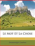 Le Mot et la Chose, Dominique Campan, 1148834419