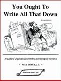 You Ought to Write All That Down, Paul Drake, 0788404458