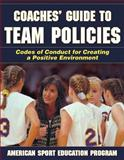 Coaches' Guide to Team Policies, American Sport Education Program Staff, 0736064478
