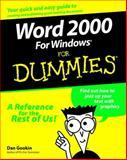 Word 2000 for Windows for Dummies, Dan Gookin, 0764504487