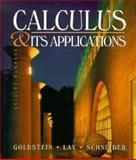 Calculus and Its Applications, Goldstein, Larry J. and Lay, David C., 0133214494