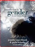 Introduction to Gender, Marchbank, Jennifer and Letherby, Gayle, 1408244500
