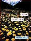 Math Matters, Rauff, James V., 0471304522