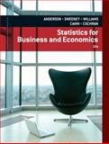 Statistics for Business and Economics, Anderson, David R. and Sweeney, Dennis J., 1133274536