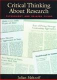 Critical Thinking about Research : Psychology and Related Fields, Meltzoff, Julian, 1557984557