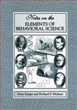 Notes on the Elements of Behavioral Science, Zumpe, Doris and Michael, Richard P., 1461354560