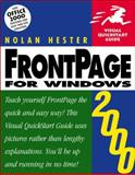 Frontpage 2000 for Windows, Nolan Hester, 0201354578