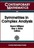 Symmetries in Complex Analysis, , 0821844598
