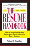The Resume Handbook, Arthur D. Rosenberg, 1598694596