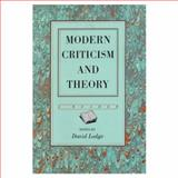 Modern Criticism and Theory 9780582494602