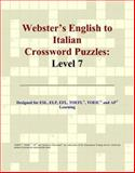 Webster's English to Italian Crossword Puzzles, Icon Reference Staff, 0497254603
