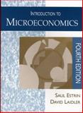 Introduction to Microeconomics, Laidler, David and Estrin, Saul, 0745014666