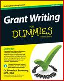 Grant Writing for Dummies, Consumer Dummies Staff and Browning, Beverly A., 1118834666