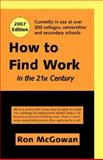 How to Find Work, Ron McGowan, 1552124665
