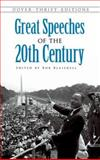 Great Speeches of the 20th Century, , 0486474674