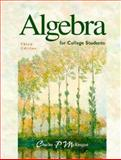 Algebra for College Students, McKeague, Charles P., 0030194679