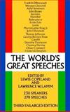 World's Great Speeches, Lewis Copeland, 0486204685