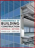 Fundamentals of Building Construction : Materials and Methods, Allen, Edward and Iano, Joseph, 047007468X