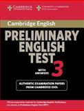 Cambridge Preliminary English Test 3 with Answers, Cambridge Esol, 0521754739