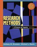 Research Methods : A Process of Inquiry, Graziano, Anthony M. and Raulin, Michael L., 0205484751
