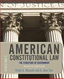 American Constitutional Law, Eighth Edition, Volume 1 Vol. 1 : The Structure of Government, Rossum, Ralph A. and Tarr, G. Alan, 0813344778