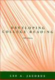 Developing College Reading, Jacobus, 015501479X