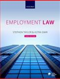 Employment Law : An Introduction, Taylor, Stephen and Emir, Astra, 0199604894