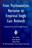 From Psychoanalytic Narrative to Empirical Single Case Research : Implications for Psychoanalytic Practice, Kaechele, Horst and Schachter, Joseph, 0881634891