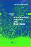Mitochondrial Function and Biogenesis, , 3540214895
