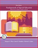 Fundamentals of Special Education : What Every Teacher Needs to Know, Werts, Margaret G. and Culatta, Richard A., 0131714910
