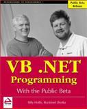VB.NET Programming with the Public Beta, Billy S. Hollis and Rockford Lhotka, 1861004915