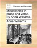 Miscellanies in Prose and Verse by Anna Williams, Anna Williams, 1170494951