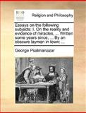 Essays on the Following Subjects, George Psalmanazar, 1170604951