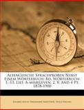 Altenglische Sprachproben Nebst Einem Wörterbuch, Hugo Bieling, 1270864971