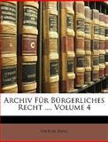 Archiv Für Bürgerliches Recht, Viktor Ring, 1149104996