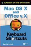 Mac OS X and Office V. X Keyboard Shortcuts, Hart-Davis, Guy, 0072255013