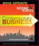 Contemporary Business 2012, Kurtz, David L. and Boone, Louis E., 1118115023