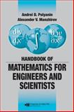 Handbook of Mathematics for Engineers and Scientists, Polyanin, Andrei D. and Manzhirov, Alexander V., 1584885025