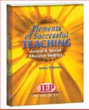 Elements of Successful Teaching : Gnereal and Special Education Students, Bateman, Barbara D., 157861502X