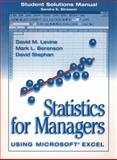 Statistics for Managers Using Excel, Levine, David M. and Berenson, Mark L., 0136565050