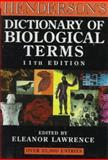 Henderson's Dictionary of Biological Terms, Lawrence, Eleanor, 0470235071