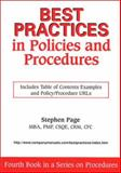 Best Practices in Policies and Procedures, Page, Stephen B., 1929065078