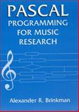 Pascal Programming for Music Research, Brinkman, Alexander R., 0226075087
