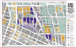 Metrotech Business Improvement District Map (August 1997) : Detailed Map of Downtown Brooklyn,Bounded by Tillary-Bqe, Ft Greene Park, Boerum Hill and Clinton,, 1882895096