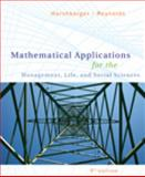Mathematical Applications for the Management, Life, and Social Sciences, Harshbarger, Ronald J. and Reynolds, James J., 0547145098