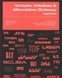 New Acronyms, Initialism and Abbreviations 9780787615116