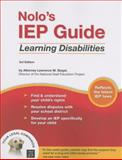 Nolo's IEP Guide, Lawrence M. Siegel and Lawrence Siegel, 1413305121