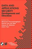 Data and Applications Security : Developments and Directions, , 0792375149