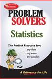 Statistics Problem Solver, M. Fogiel and Research & Education Association Editors, 087891515X